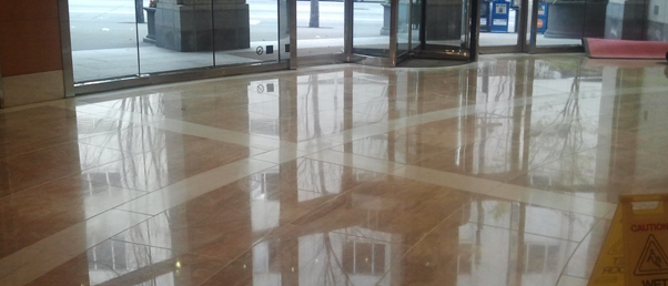 how to clean and wax commercial tile floors